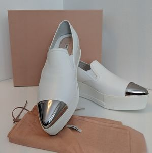 Miu Miu platform slip on sneakers